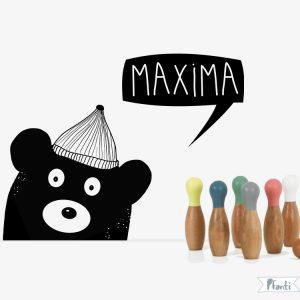 Wandtattoo Bär personalisiert schwarz