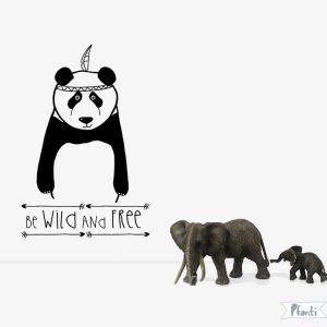 Wandtattoo Panda schwarz