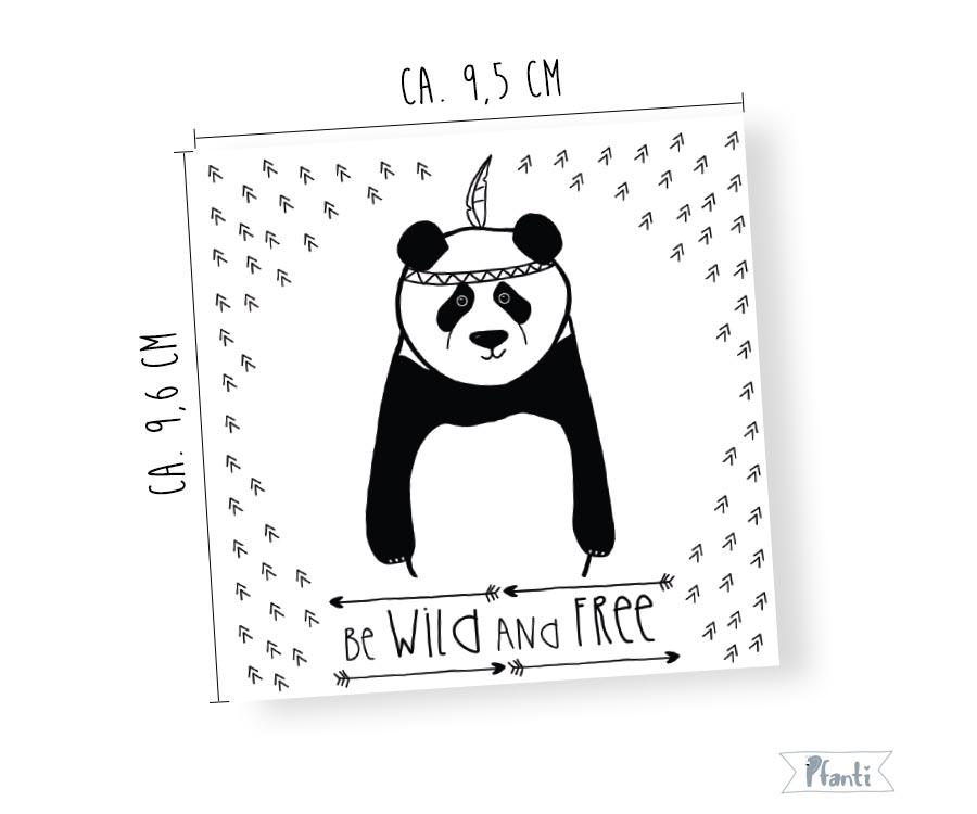 Porzellansticker Panda Sticker