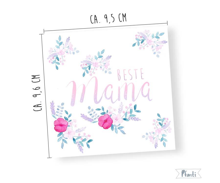 Porzellansticker beste Mama Sticker