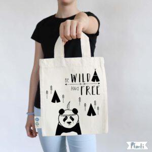 Tragetasche mit Panda