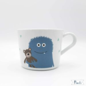 Porzellansticker Monster blau