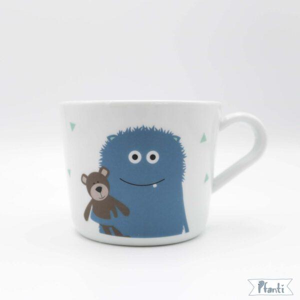 Porzellansticker Monster blau