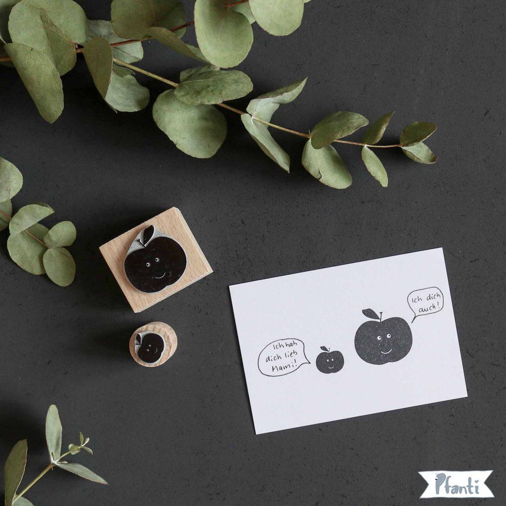 Stempel Apfel klein und groß