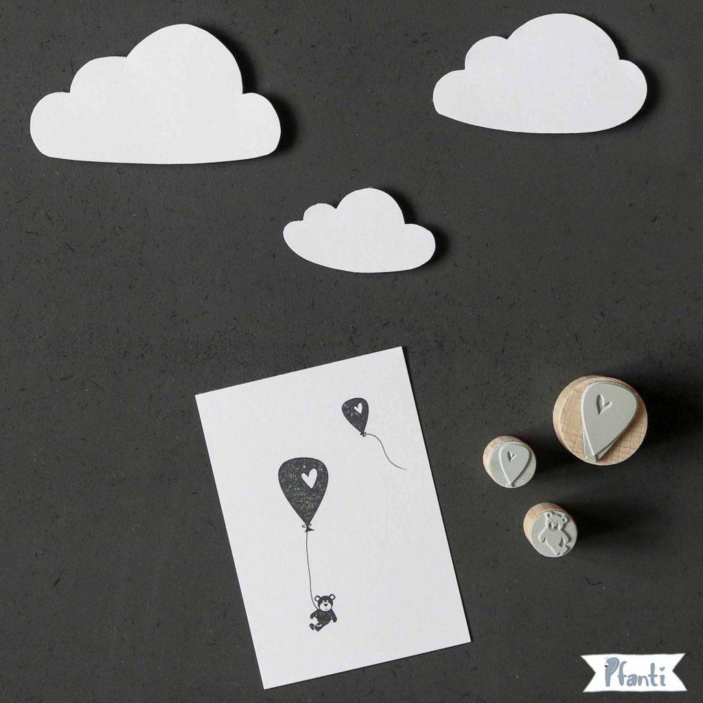 Stempel Ballon, Luftballon, Teddy
