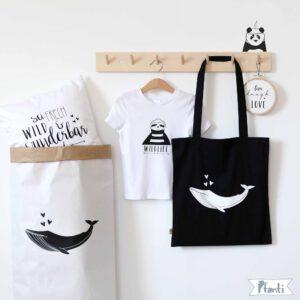 Tragetasche mit Wal