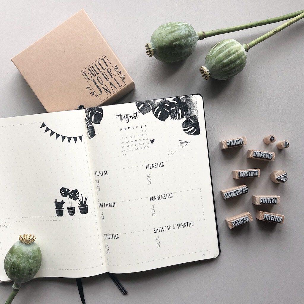 Stempelset Bullet Journal