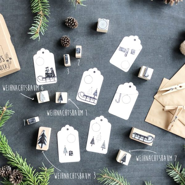 Stempel DIY Adventskalender