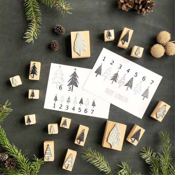 Stempel Weihnachtsbaum, Weihnachtsbäume