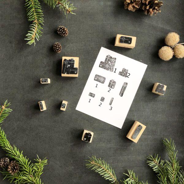 Stempel Geschenke, verschiedene Varianten