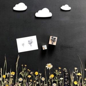 Stempel Blumenstrauß, Geschenke verschönern