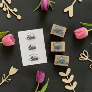 Stempel Glücksmomente in Bildern, Geschenke verschönern
