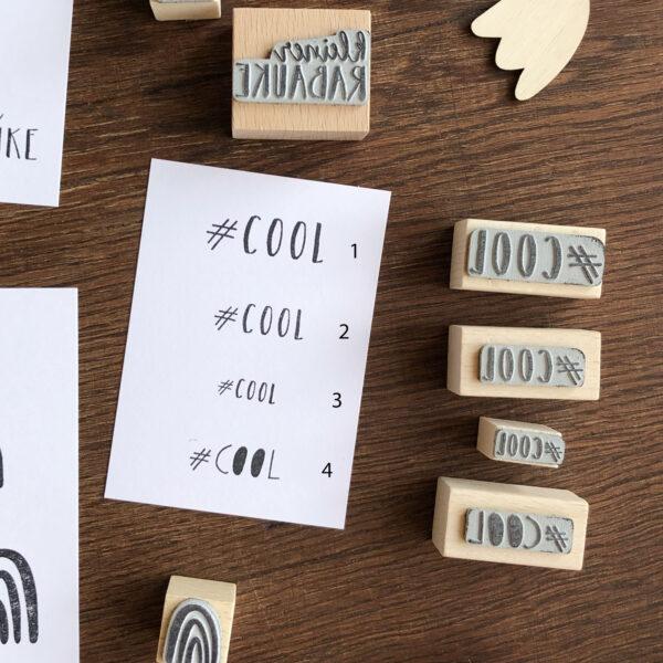 Stempel Text und Label, Cool