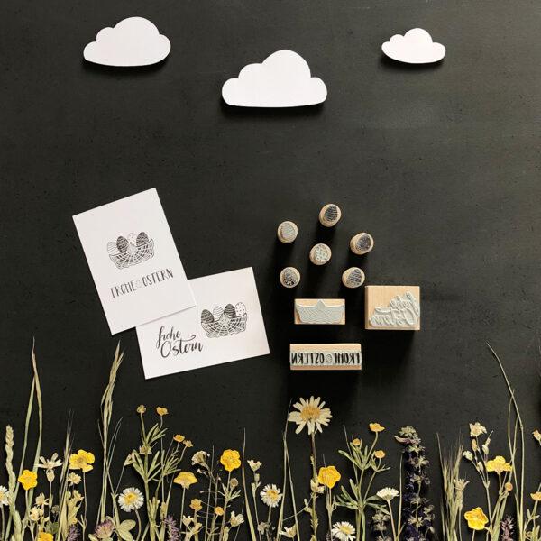 Stempel Frohe Ostern, Körbe, Inspiration Kartengestaltung