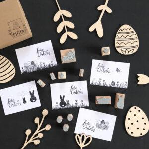 Stempel Ostern, Geschenke verschönern