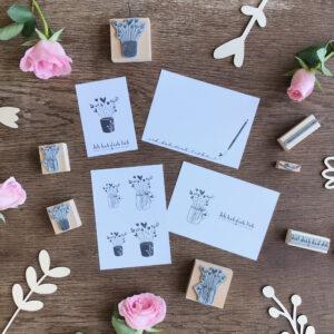 Stempel Blumen, Muttertag, Liebe