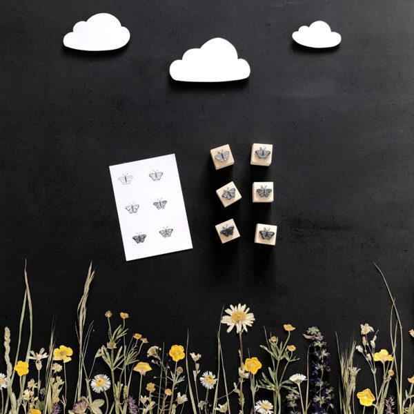 Stempel Schmetterlinge, verschiedene Größen und Varianten