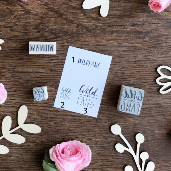 Stempel Wildfang, Text und Label