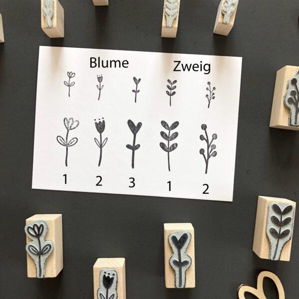 Stempel Blüten, Blumen, Zweige