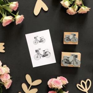 Stempel Fahrrad & Blumen